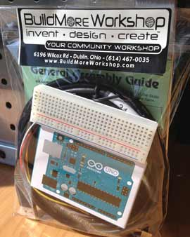 buy an Arduino Kit from us for $35 (includes arduino uno, breadboard, jumpers, usb cable)