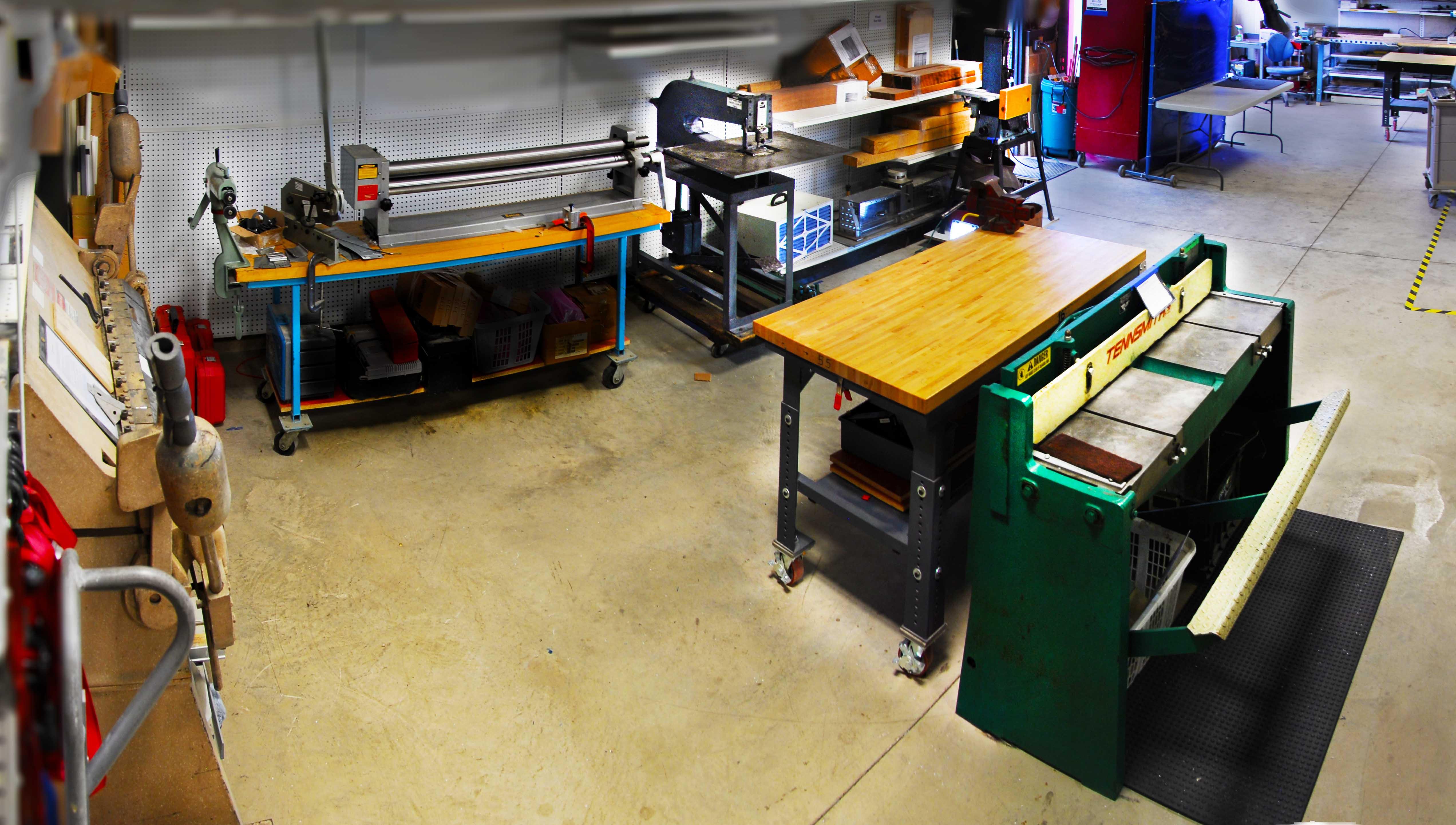 "Sheet Metal Forming Equipment, 52"" Shear, 48"" Finger Brake, 48"" Slip  Roller, Bead Roller, Large manual kick punch"