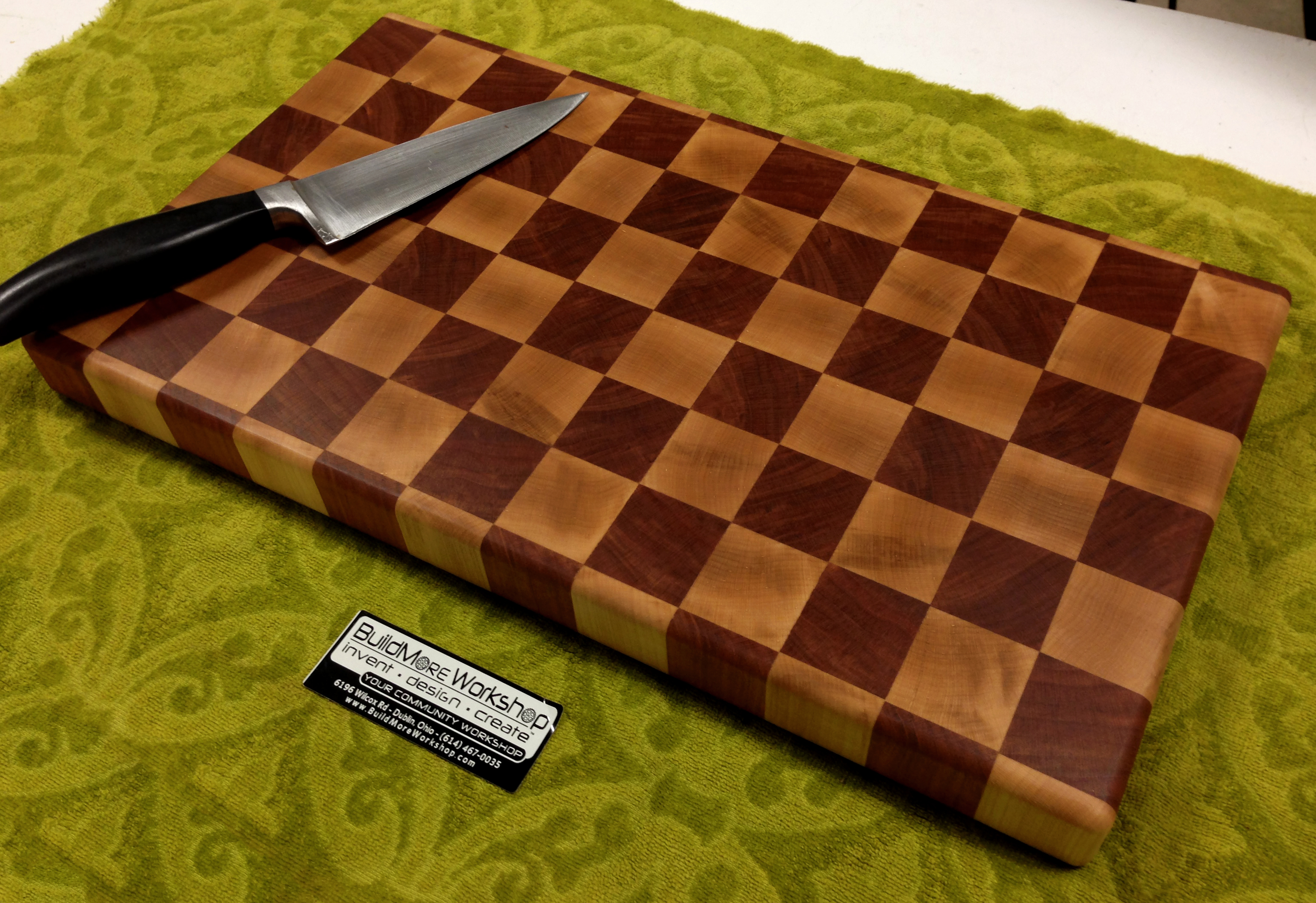 buildmore workshop  end grain butcher block cutting board wood class, Kitchen design